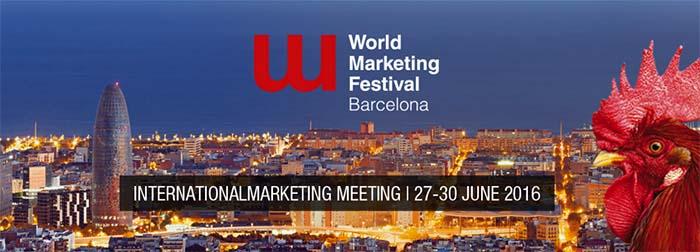 Cartell World Marketing Festival Barcelona 2016