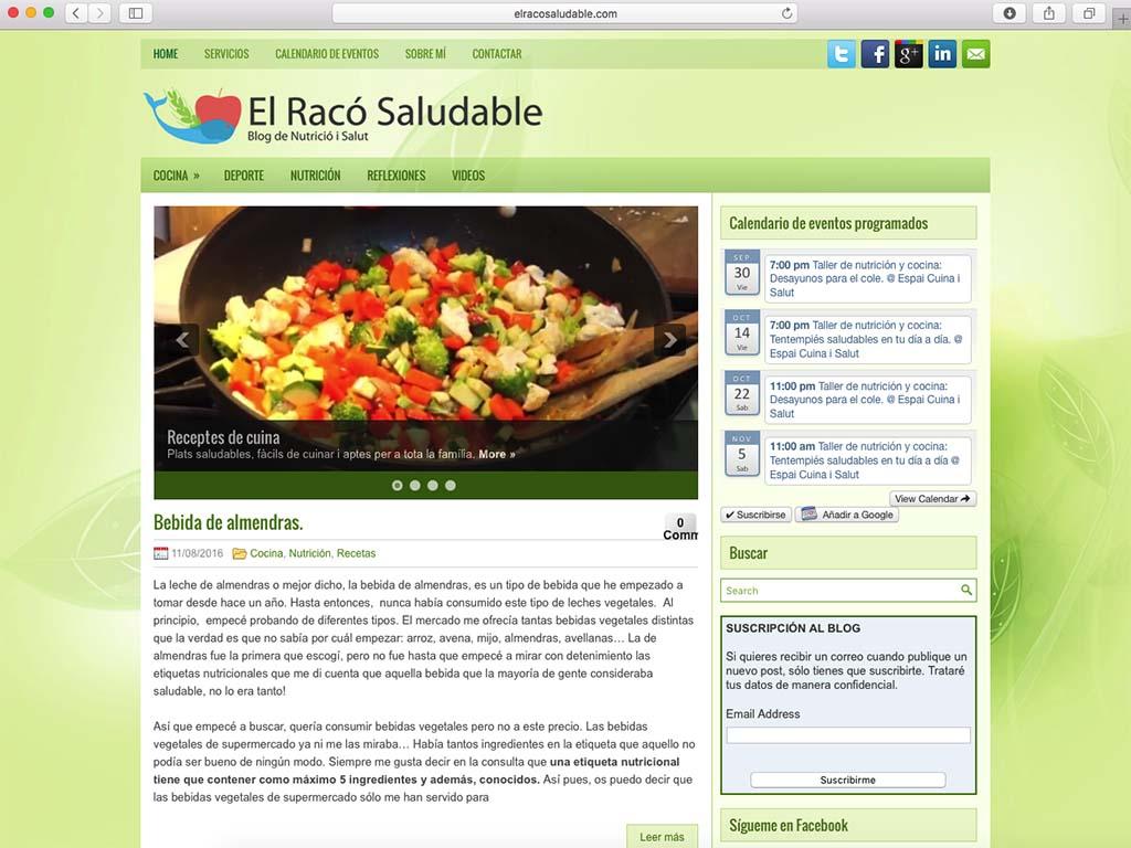 web antigua de elracosaludable.com