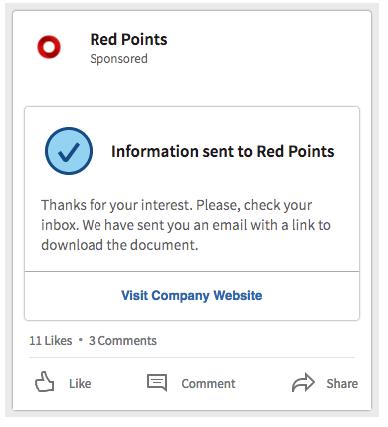 Step-3 Pagina confirmacion Linkedin Lead Gen Form - Magnetica