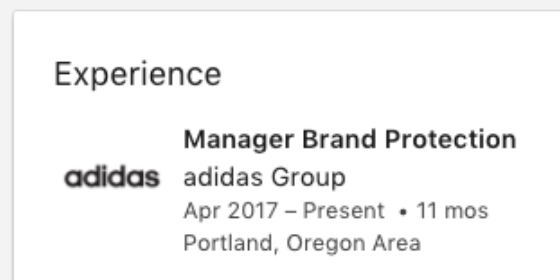 Cargo Brand Protection Manager Adidas Linkedin