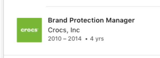 Cargo Brand Protection Manager Crocs Linkedin