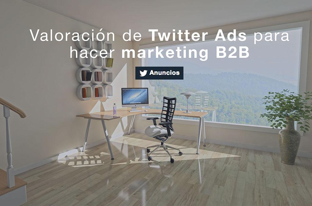 Valoración de Twitter para hacer marketing B2B
