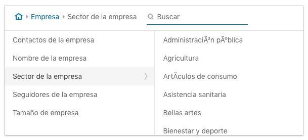 criterios de segmentacion segun empresa en Linkedin