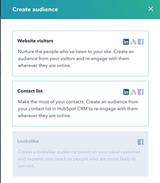 create audience hubspot linkedin