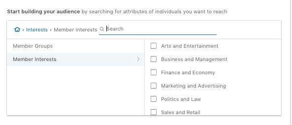 Interest Linkedin
