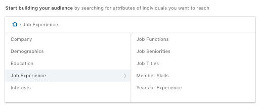 Job experience - Linkedin
