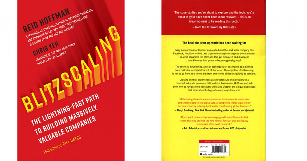 Blitzscaling The Lightning-Fast Path to Building Massively Valuable Companies cover book