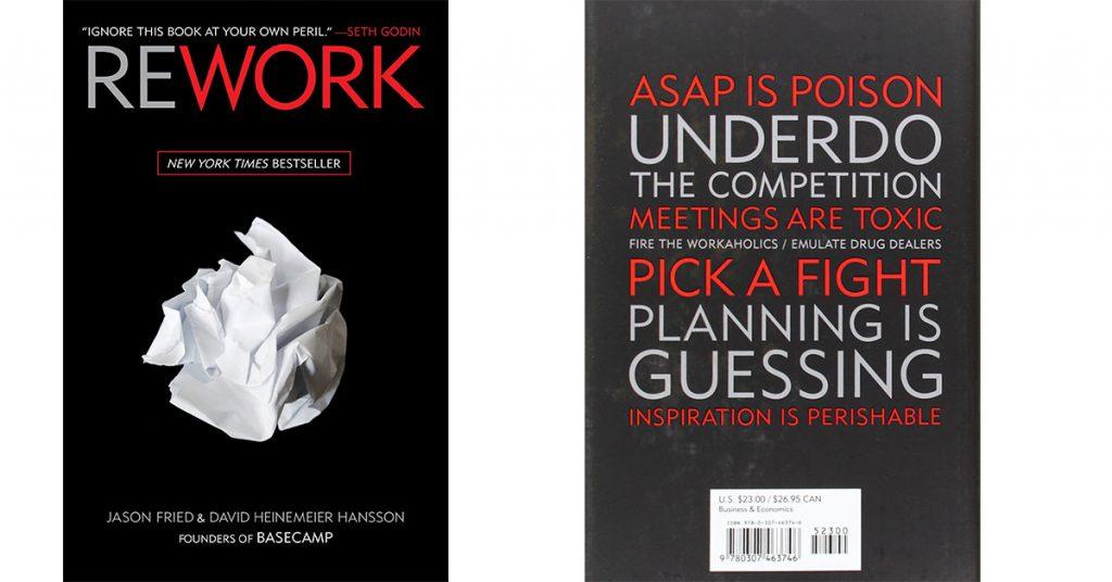 Rework de Jason Fried y David Heinemeier Hansson - cover book