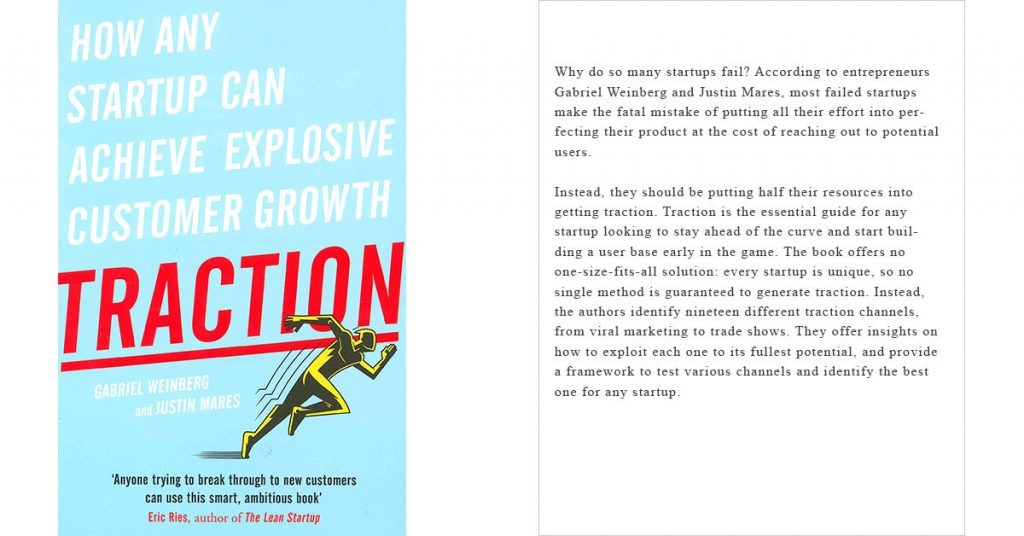 Traction. de Gabriel Weinberg y Justin Mares cover book