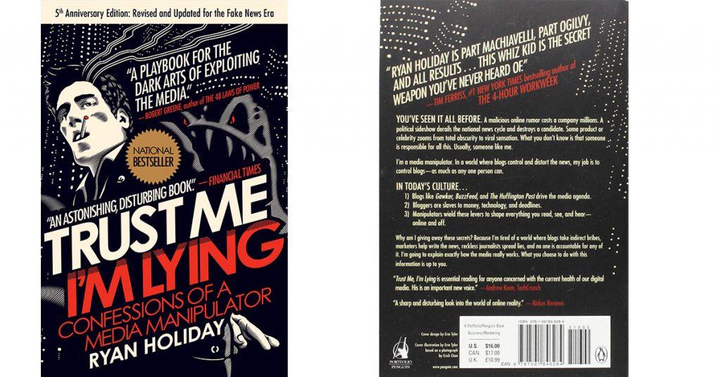 libro Trust Me, I'm Lying. de Ryan Holiday
