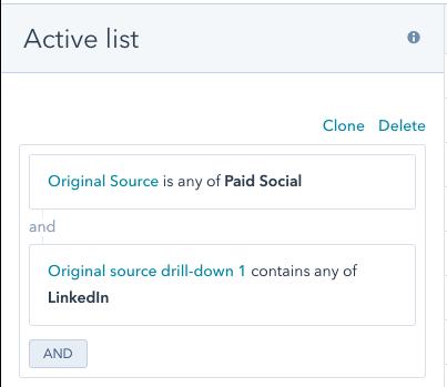 Regla para saber cuando un lead entra a través de LinkedIn Ads