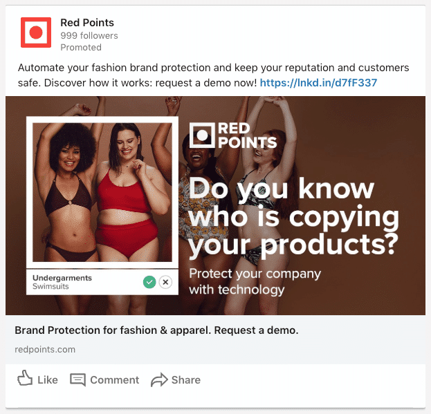 A Red Points sponsored content image ad on LinkedIn