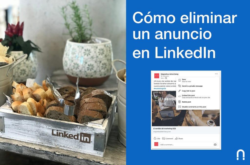 Como eliminar un anuncio en linkedin