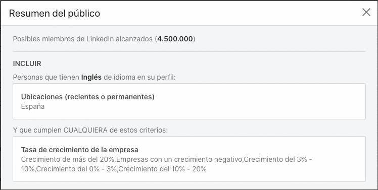 Selección de todas las tasas de crecimiento para España