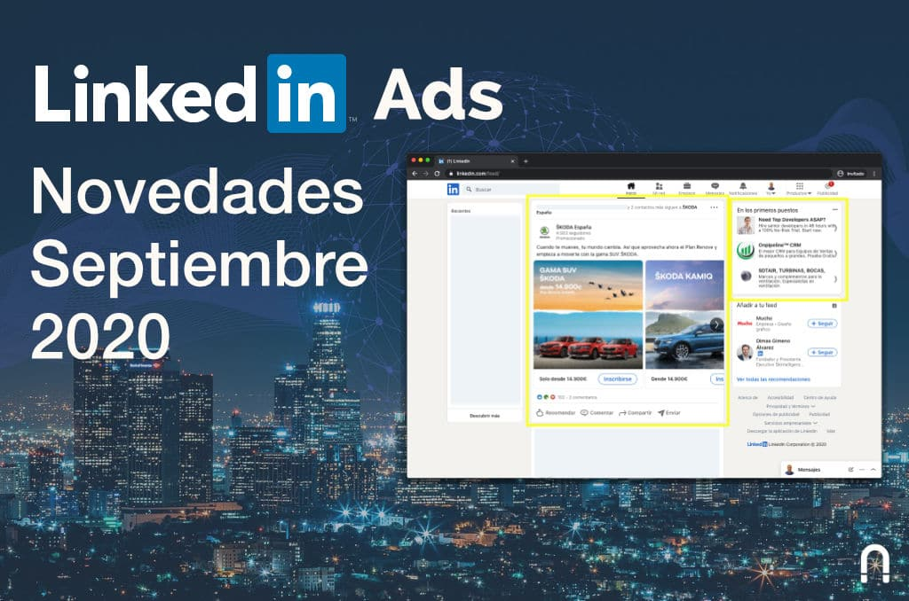 LinkedIn Ads Novedades Septiembre 2020