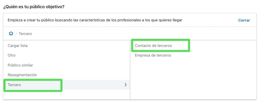 Cómo seleccionar un listado de contactos con integración de tu CRM con LinkedIn